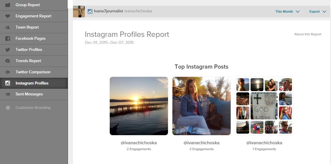 SPROUT- INSTAGRAM REPORT- TOP POSTS