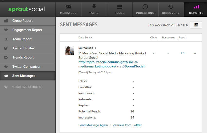 SPROUTSOCIAL- REPORTS- SENT MESSAGES - SENT AGAIN