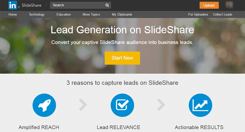 lead generations linkedin slideshare