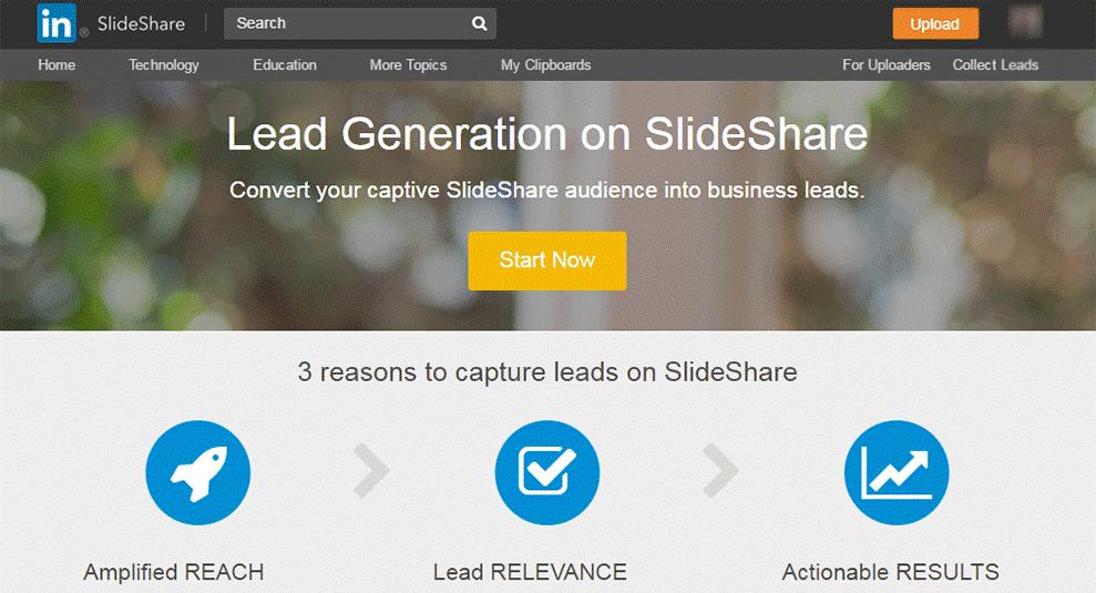 lead generations linkedin slideshare