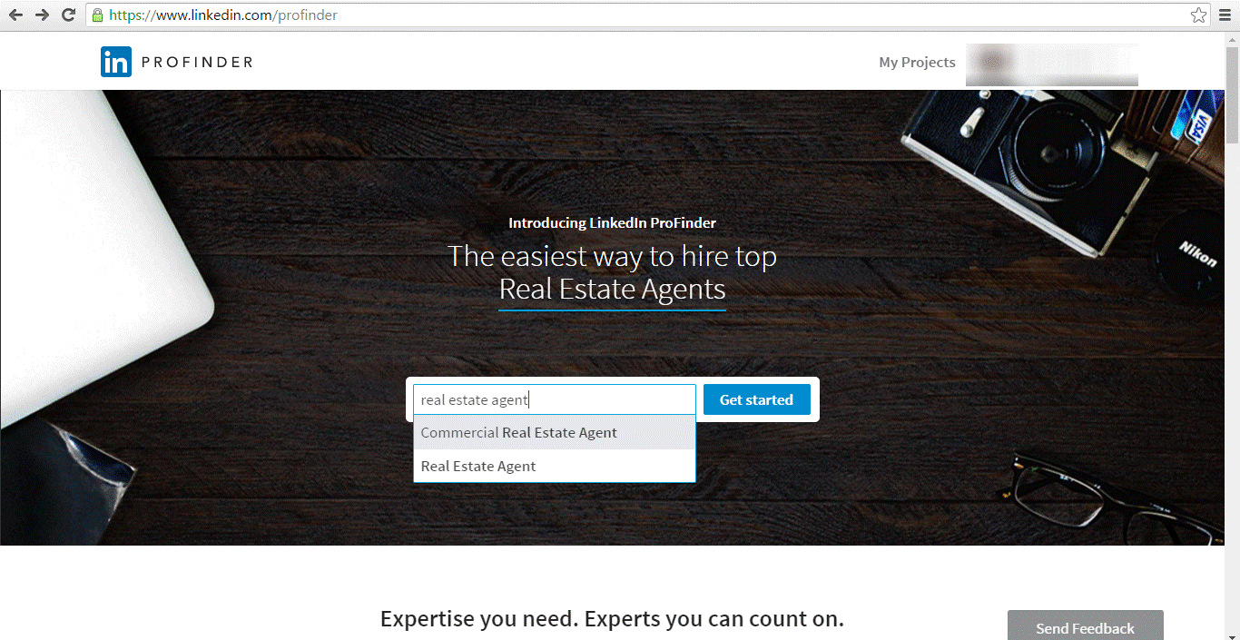 linkedin profinder real estate agent