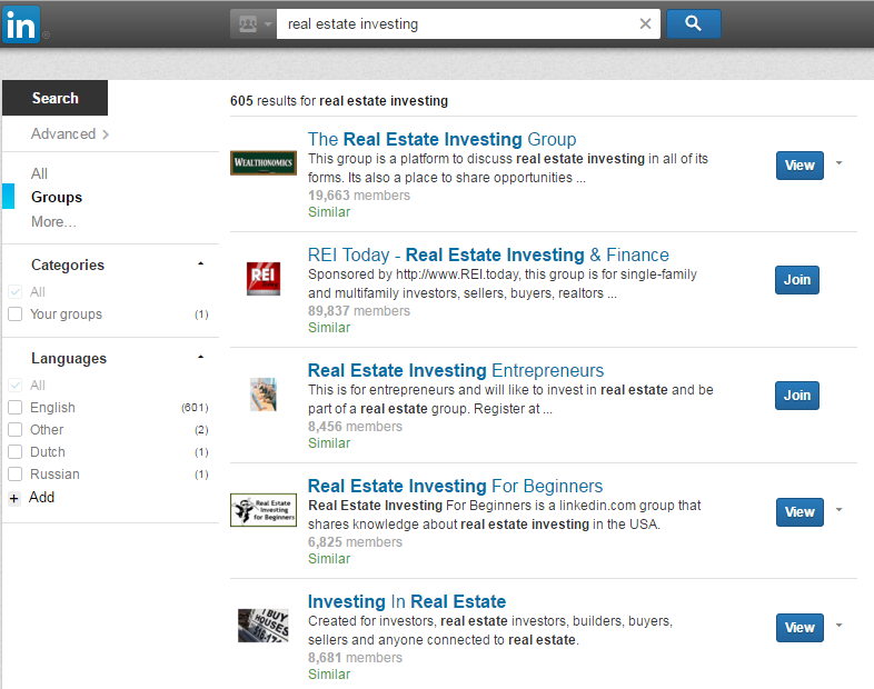 real estate investing groups