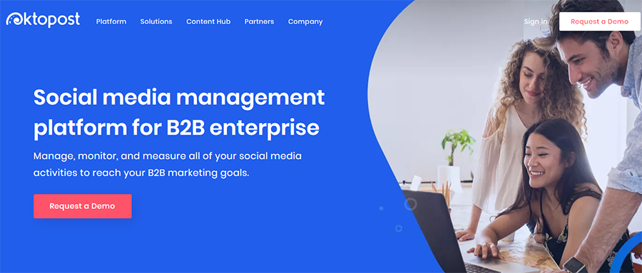social media management platform for B2B enterprises