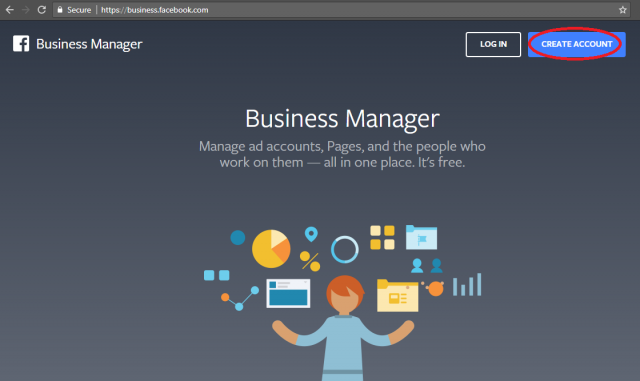Creating an account on Facebook Business Manager