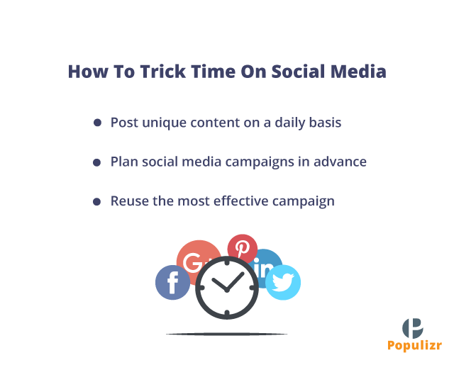 ways to trick time on social media and become an effective social media marketing team