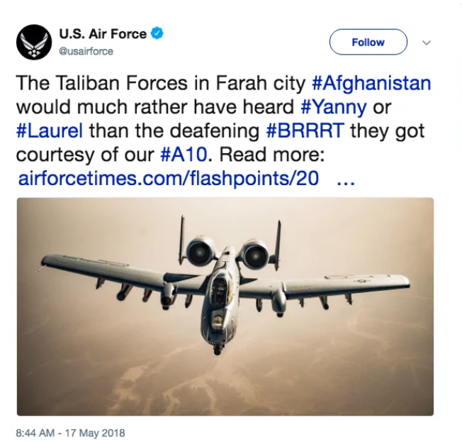 US Air Force tweet