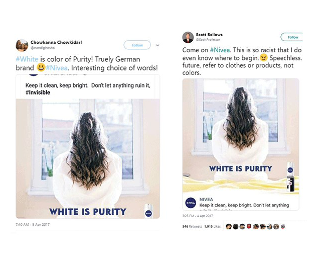 Nivea ends white is purity campaign