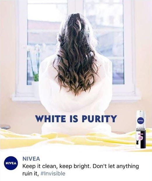 white is purity Nivea advertisement