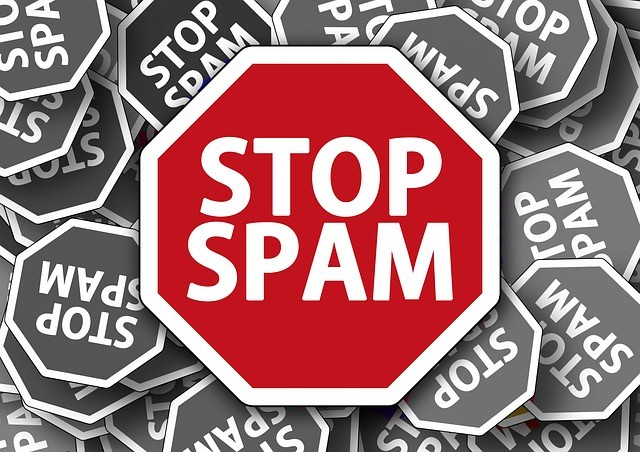 stop spam sign