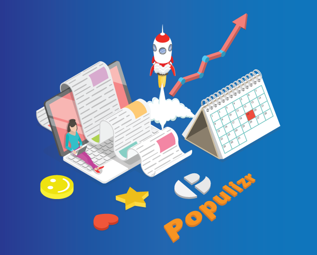 an abstract illustration of success with Populizr, employee advocacy automation software